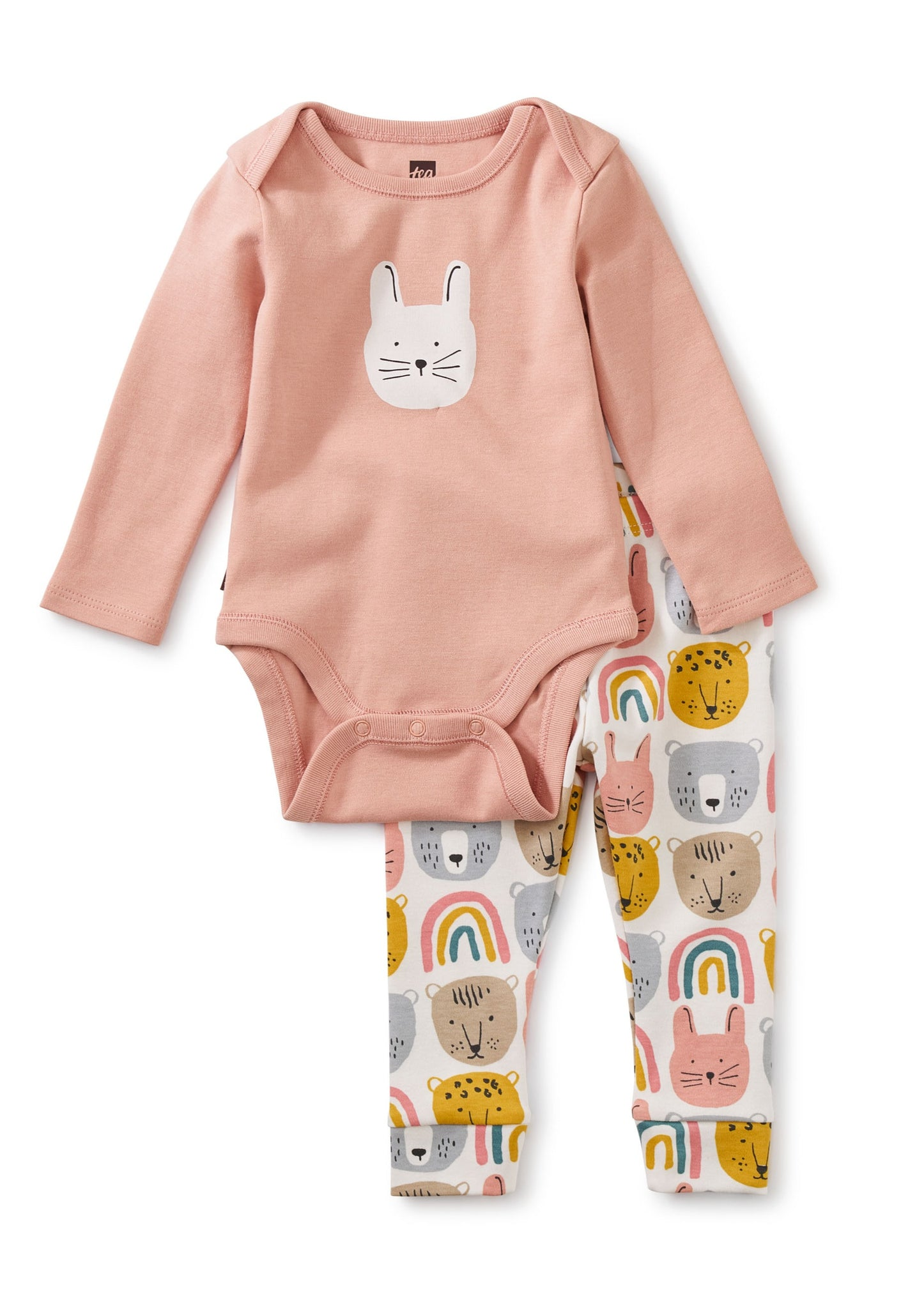 Rainbow Animals Baby Bodysuit Outfit