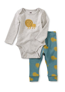 Lions Baby Bodysuit Outfit