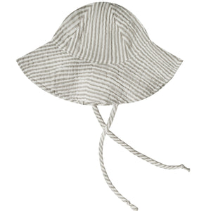 Olive Stripe Floppy Sun Hat