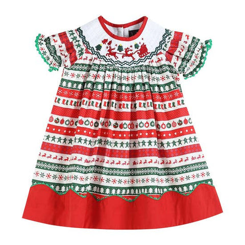 Christmas Smocked Dress