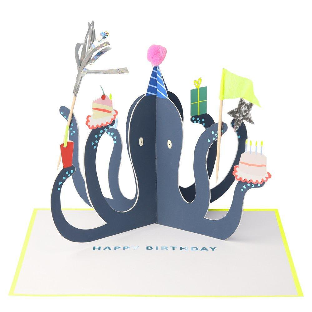 Party Octopus Stand-up Card