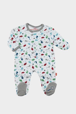 Dino Expedition Footed Romper