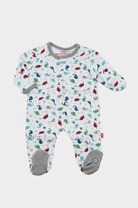 Dino Expedition Organic Cotton Footed Romper
