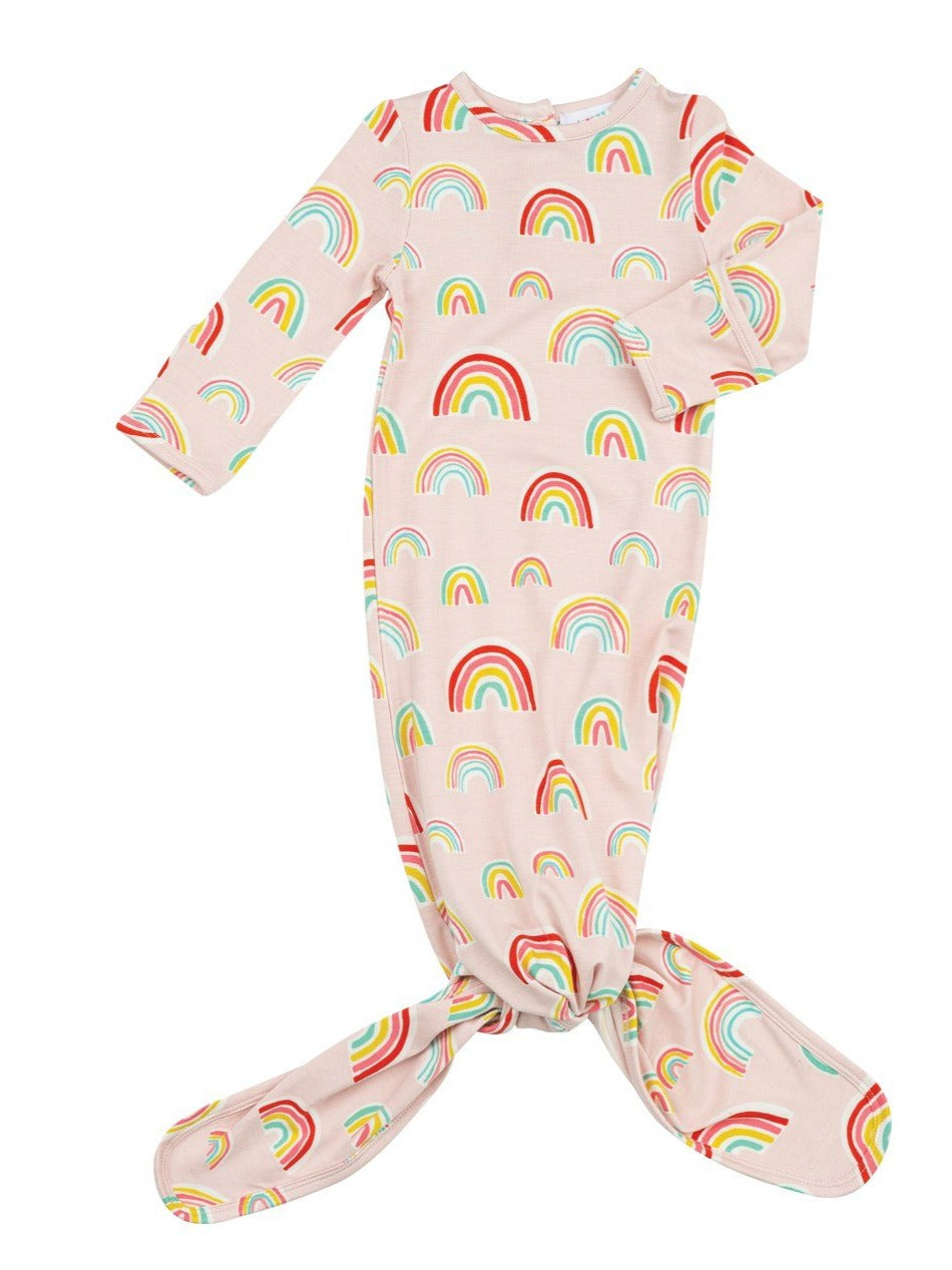 Rainbows Knotted Gown Pink