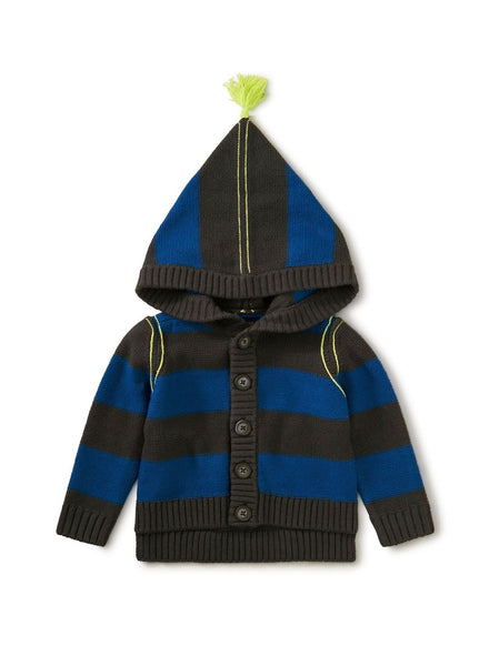 Stripe Hooded Tassel Sweater Baby