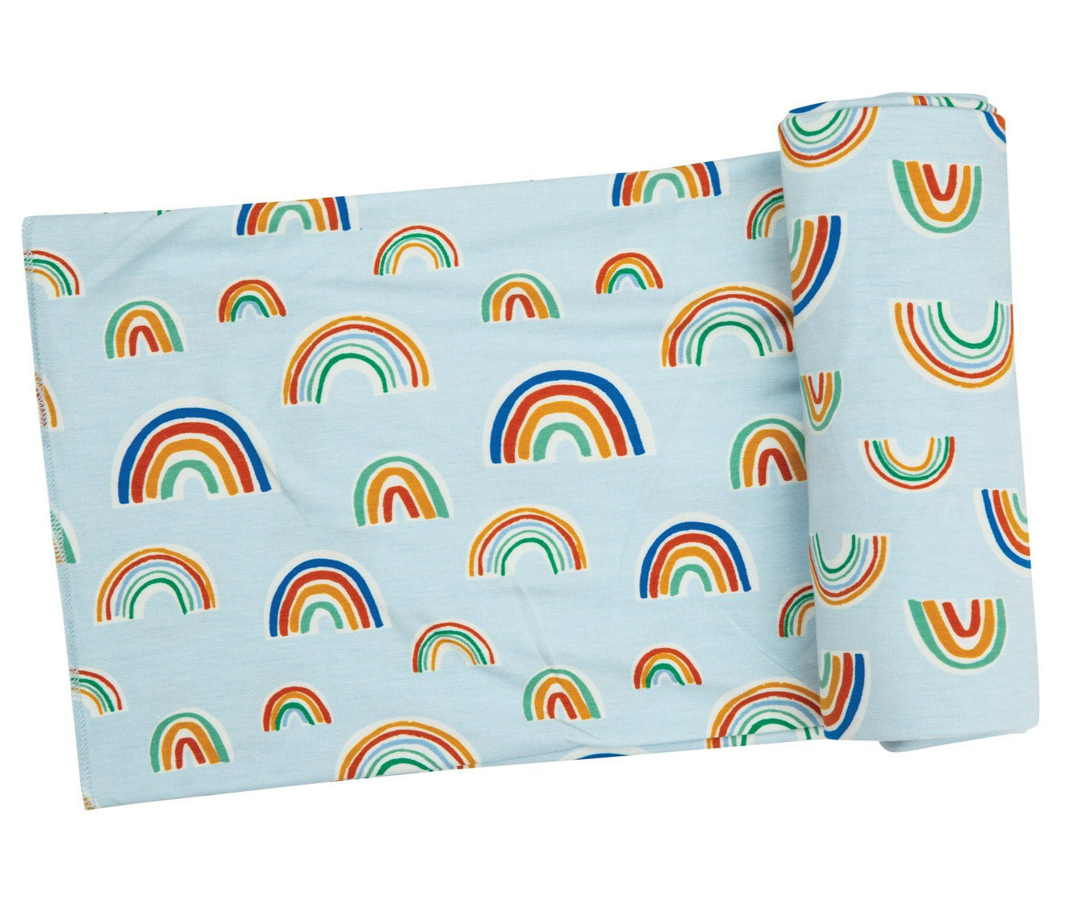 Blue Rainbows Swaddle Blanket