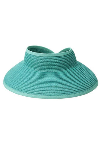 Turquoise Roll Up Hat