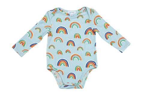 Blue Rainbows Lap Shoulder Onesie