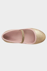 Margot Rose Gold Bling Ballet Flats