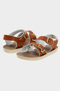 Sea Wees Leather Sandal- Tan