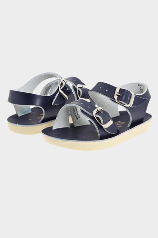 Sea Wees Leather Sandal- Navy