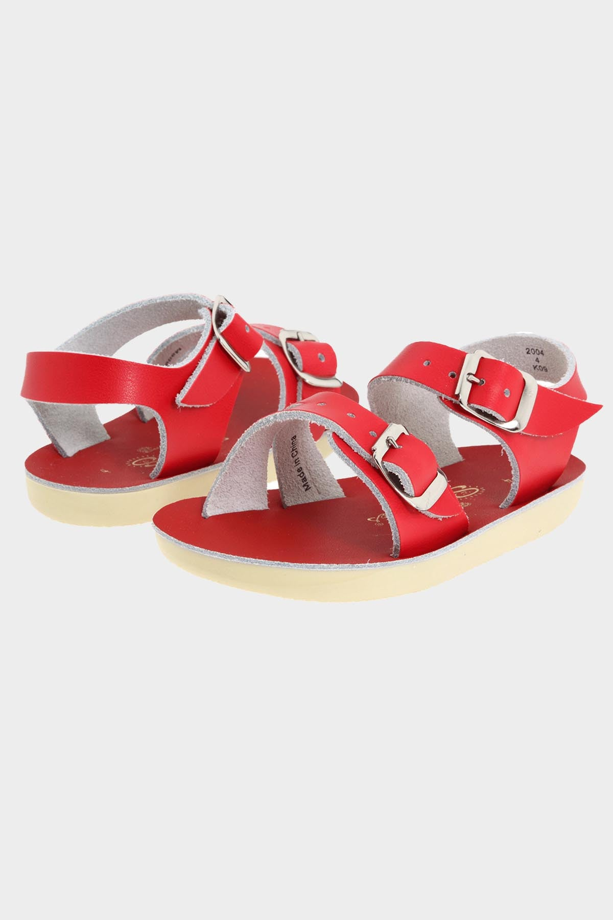 Sea Wees Leather Sandal- Red