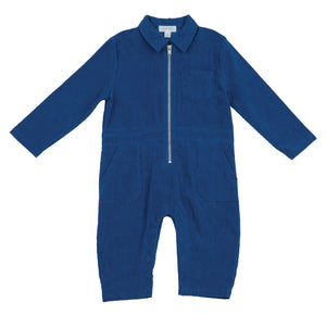 Corduroy Retro Jumpsuit Blue