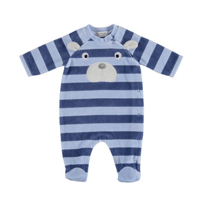 Striped Bear Footed Romper