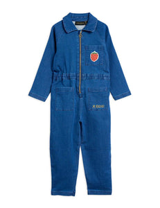 Denim Strawberry Onesie