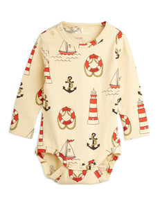 Lighthouse AOP L/S Romper