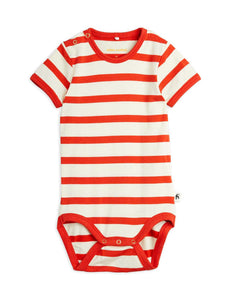 Red Stripe S/S Romper