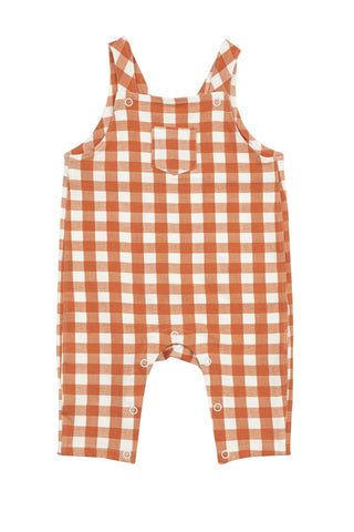 Gingham Pumpkin Pocket Coveralls