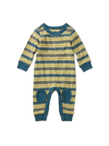Stratus Striped Knee Patch Romper