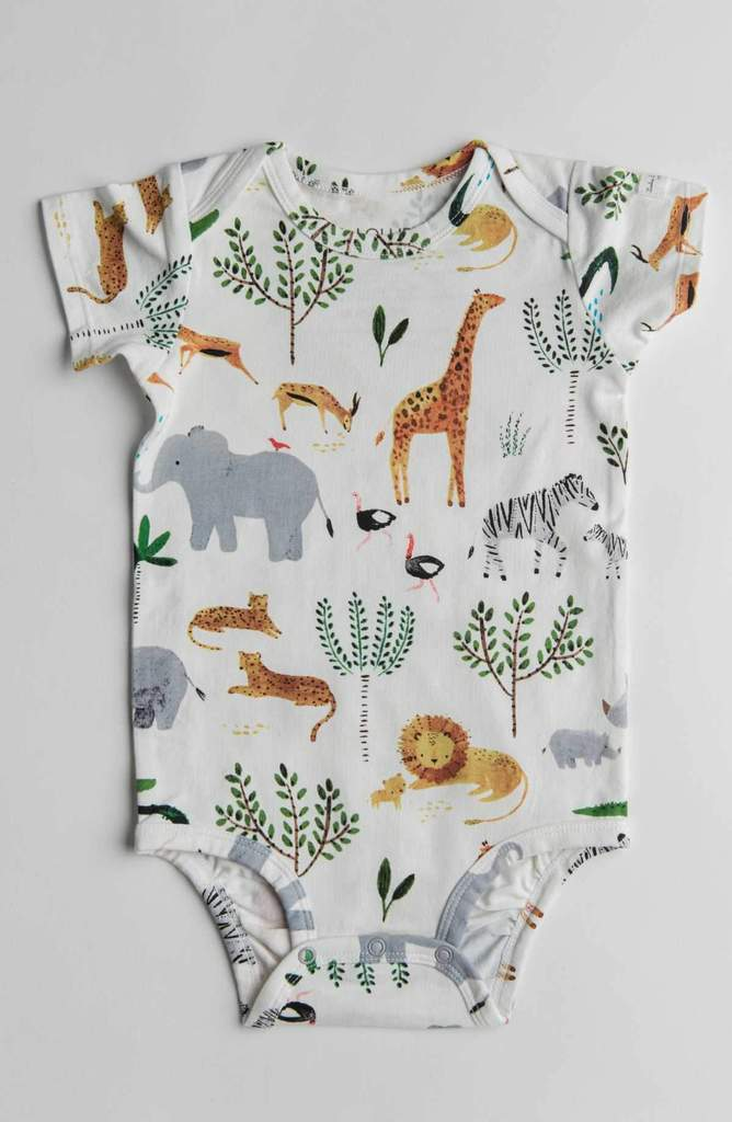 Safari Jungle Short Sleeve Bodysuit