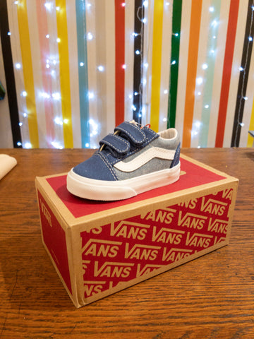 Navy/Chambray Old Skool Velcro