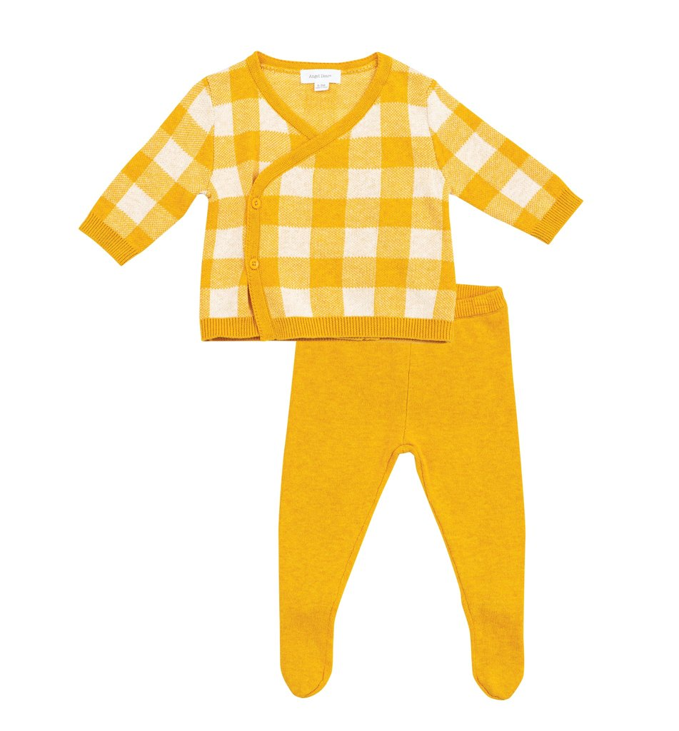 Mustard Gingham Take Me Home Set