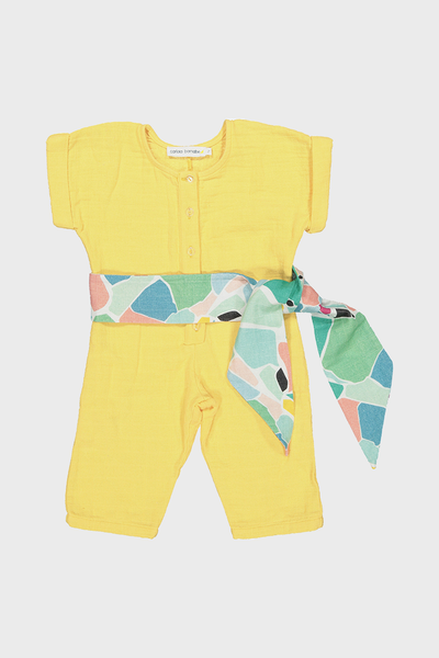 Yellow Splash Baby Overall