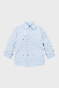 Jacquard Spot Button Up