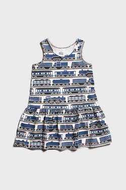 Navy Trains Valencia Dress