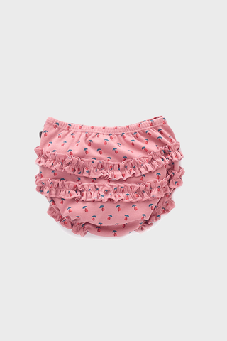 Dark Pink Tulips Ruffle Diaper Cover