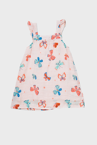 Butterflies Muslin Kid Sundress