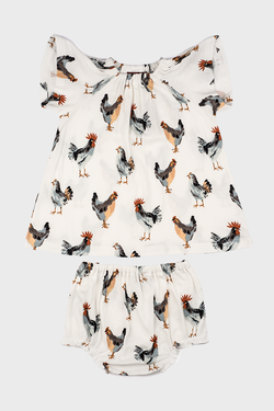 Chicken Dress & Bloomer Set