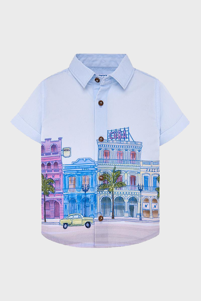 Cuba City Scene S/S Button Up