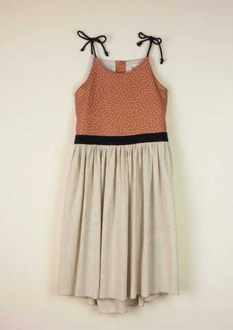 Tie Shoulder Sandy Dress