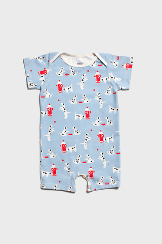 Dalmations Blue Summer Romper