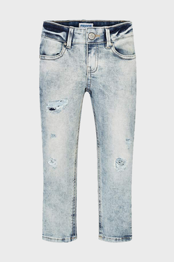 Distressed Acid Wash Jeans