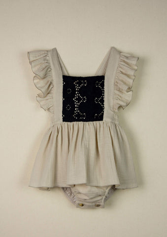 Skirted Bib Romper