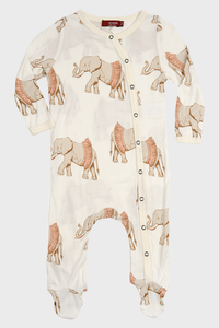 Bamboo Footed Romper Tutu Elephant
