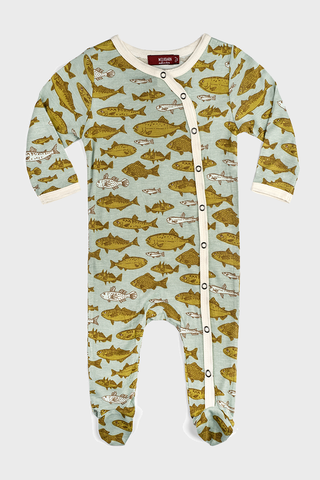 Footed Romper Fish