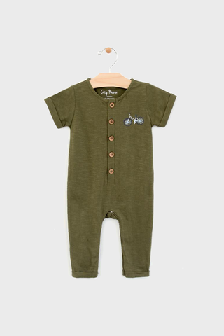 Forest Slub Bike Romper