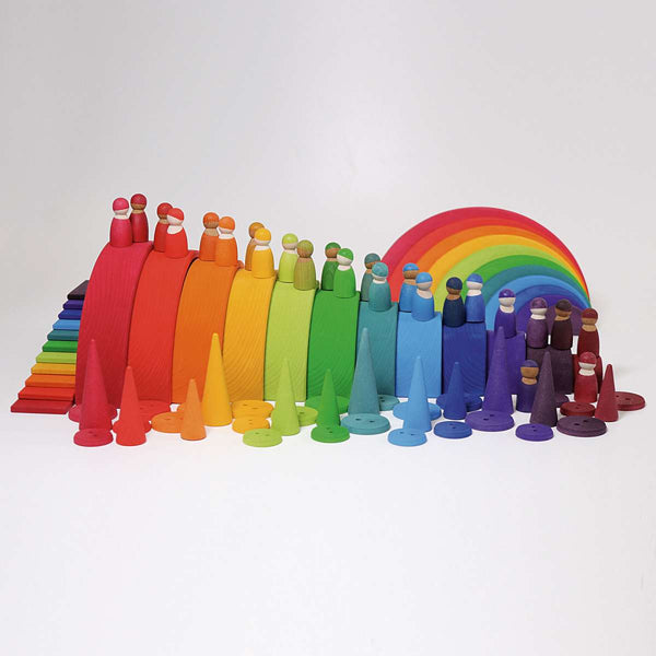 Wooden Rainbow Friends