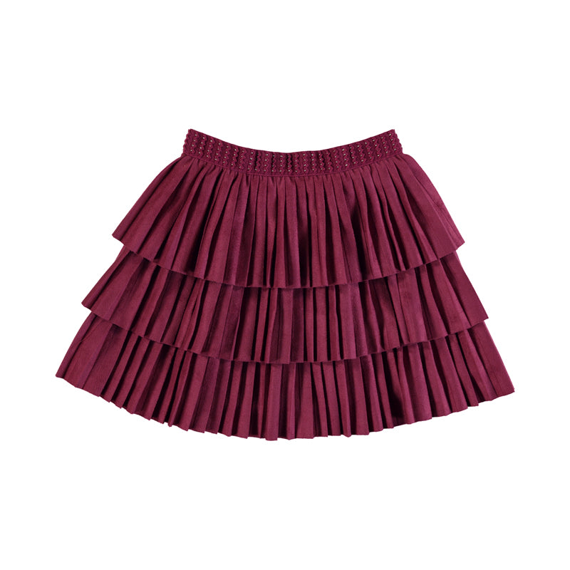 Cherry Pleated Skirt