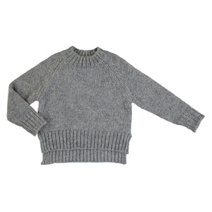 Pale Steel Sequin Sweater
