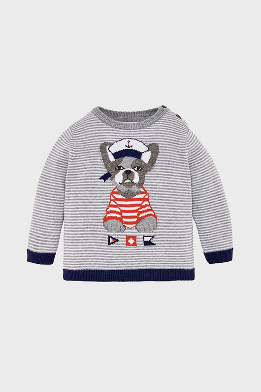 Grey Striped Puppy Sweater
