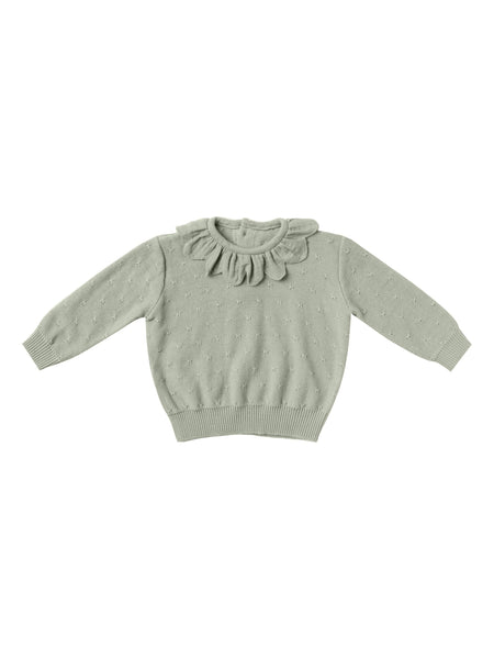 Sage Petal Knit Sweater