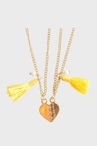 Best Friends Yellow Necklace Set