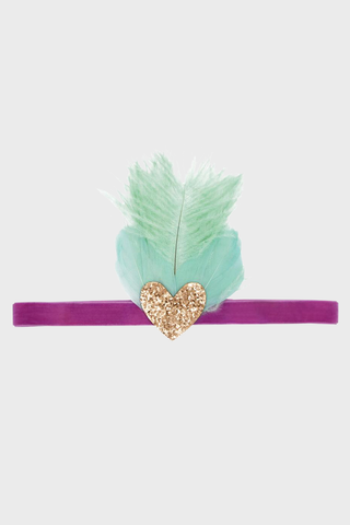 Headband Teal with heart