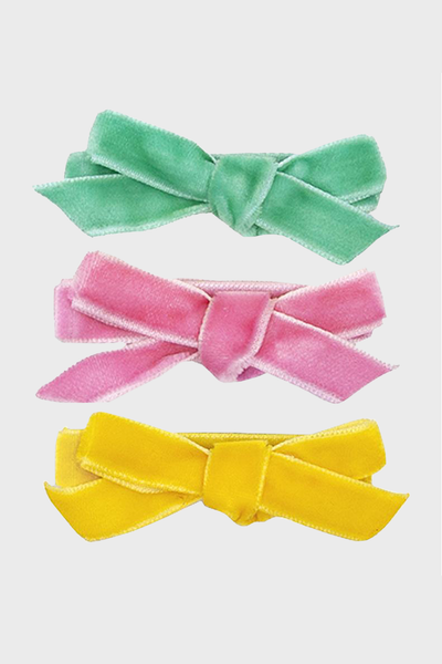 Vivienne Clips mint+ pink + yellow