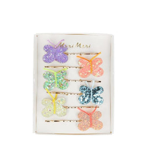 Glitter Butterfly Hair Slides