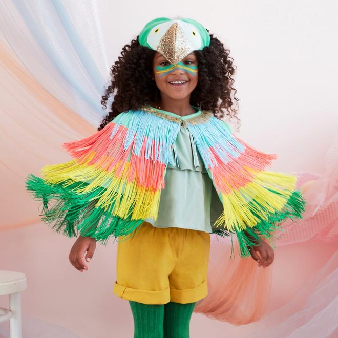 Parrot Fringed Cape Dress Up